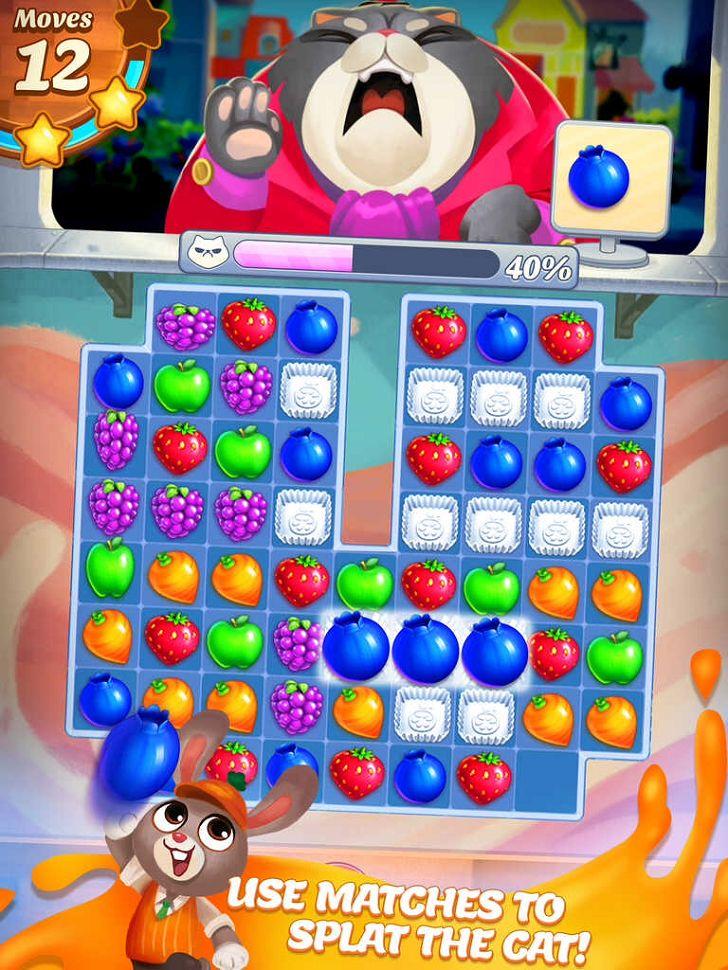 Juice Jam App  by SGN. Elimination Puzzle Apps.