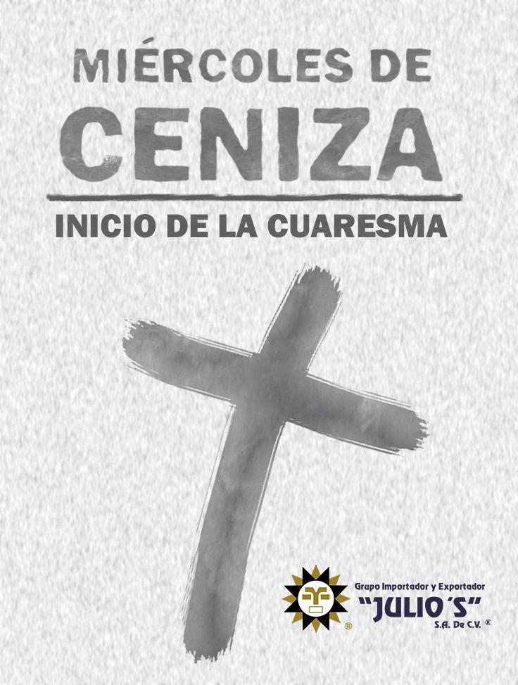 Recuerda que hoy comienza la #Cuaresma 🐠🐥 Y también es miércoles de #Ceniza ✝️✝️