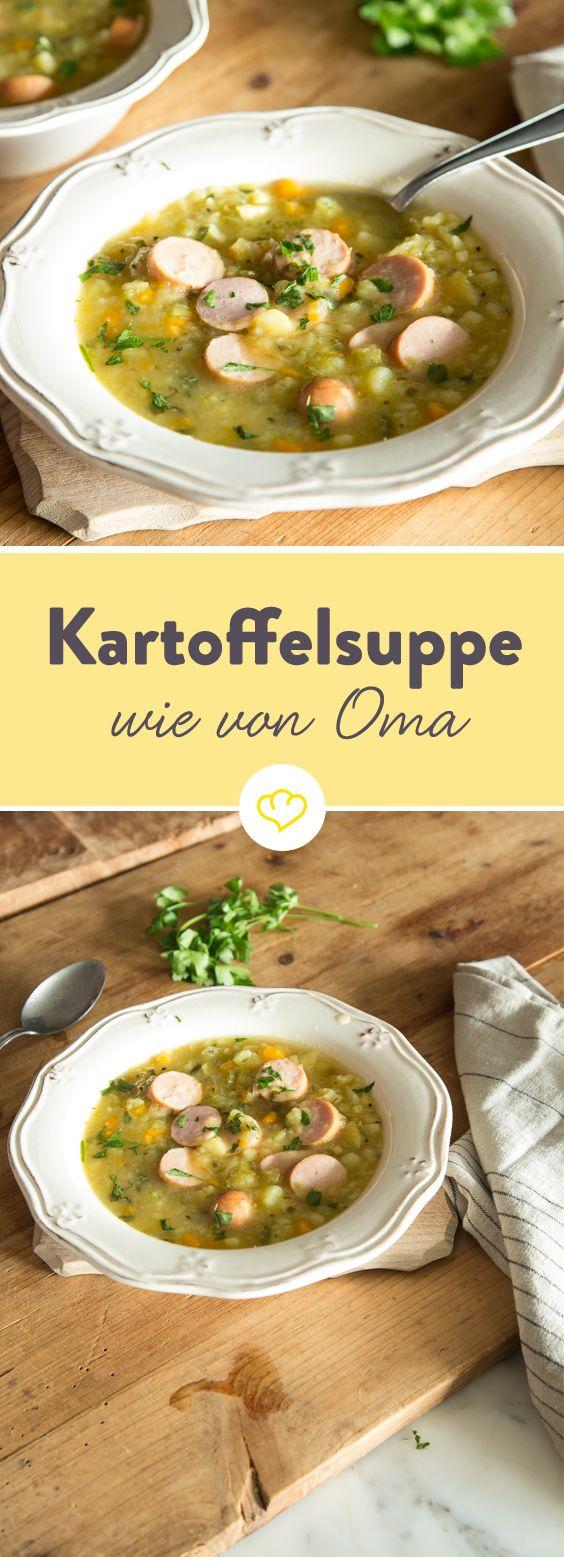 Wie von Oma: Deftige Kartoffelsuppe mit Bockwurst
