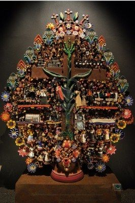 Mayan tree of life in museum Mexico