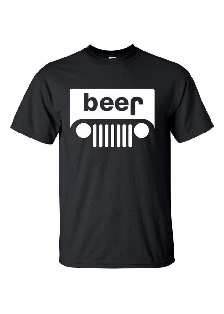 Details About Beer Jeep Logo Parody Drinking Humor Mens Graphic T Shirt Funny Logo Parody Tee Fun Funny Drinking Shirts Drinking Shirts Men S Graphic T Shirt
