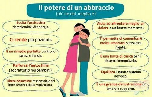 Il potere di un abbraccio