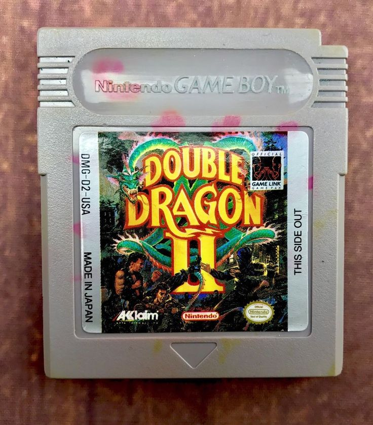 Nintendo Gameboy Game Double Dragon 2  Advance Sp Colour Ds Large Cartridge only