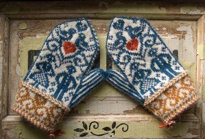 ruralgirl: (via Norwegian wedding mittens by bluegarter.org   to knit)