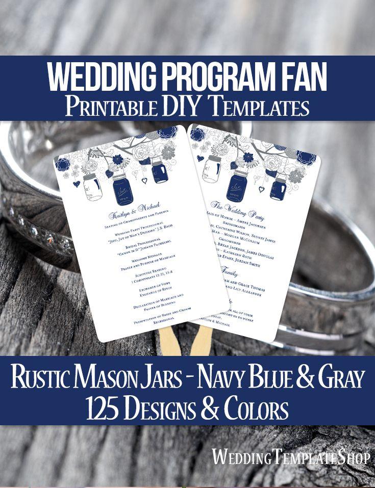 51 best Wedding Program Fans, DIY Printable Templates images on - printable program templates