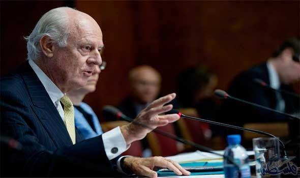 المبعوث الإممي لدى سورية ستيفان دي ميستورا يصرح نأمل بوقف اطلاق النار للوصول إلى سورية مستقلة وآمنة: المبعوث الإممي لدى سورية ستيفان دي…