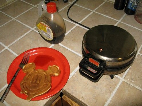 The Mickey Mouse Waffle Maker is extremely easy to use and clean and produces the perfect Mickey shaped Waffle every time. It's fun and a great activity to do with your kids on a cold winter's night. #Waffles #MickeyMouse #Disney