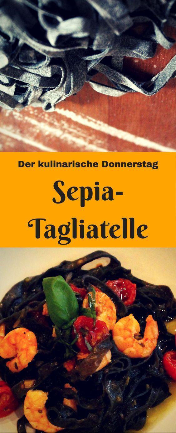 Grund-Rezept mit Hingucker-Garantie: Schwarze Sepia-Tagliatelle (-Ravioli/-Linguine/-Lasagne/-Spaghetti...) in 2 Schritten! Paint it black, baby!