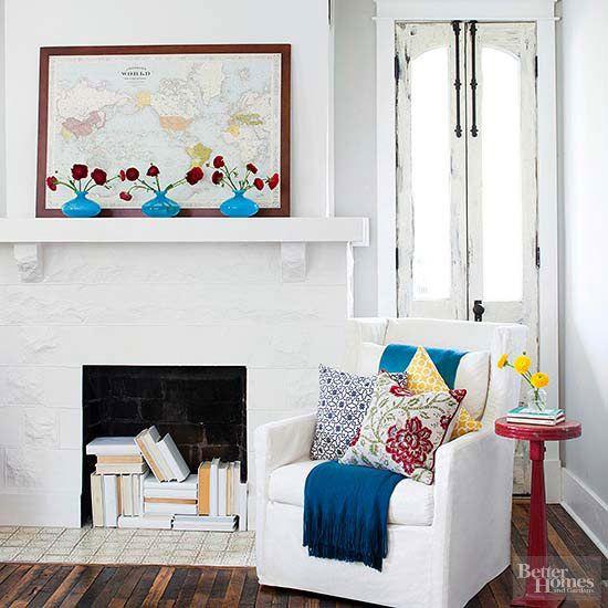 17 best ideas about fireplace filler on pinterest fire - Ideas decoracion reciclando ...