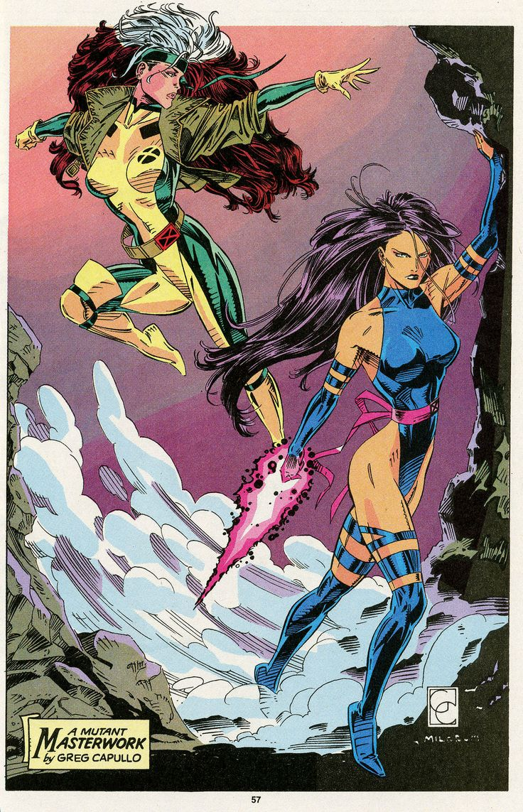 Rogue & Psylocke by Greg Capullo