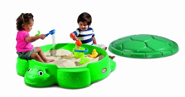 Outdoor Sandpit Sand Play Box Removable Lid Children
