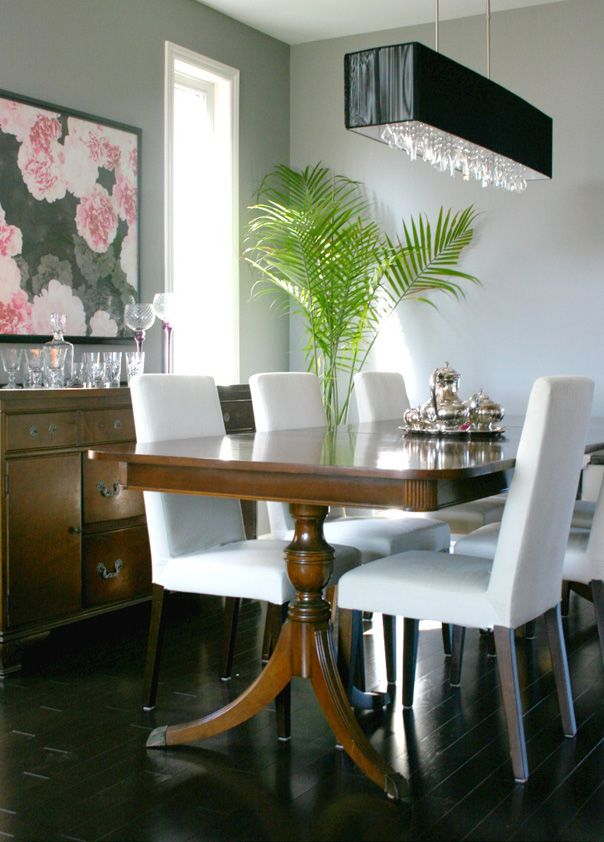 Mixing Styles Duncan Phyfe Table With More Modern Chairs