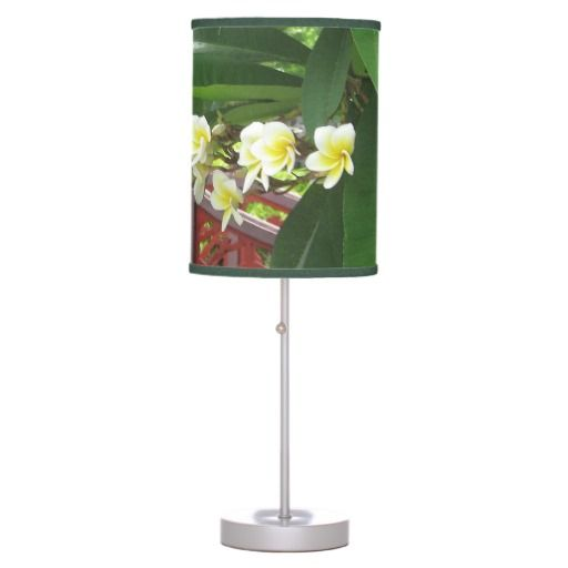 Plumeria Exotique Lamp #jungle #tropical #green #floral #homedecor #lamps #decor