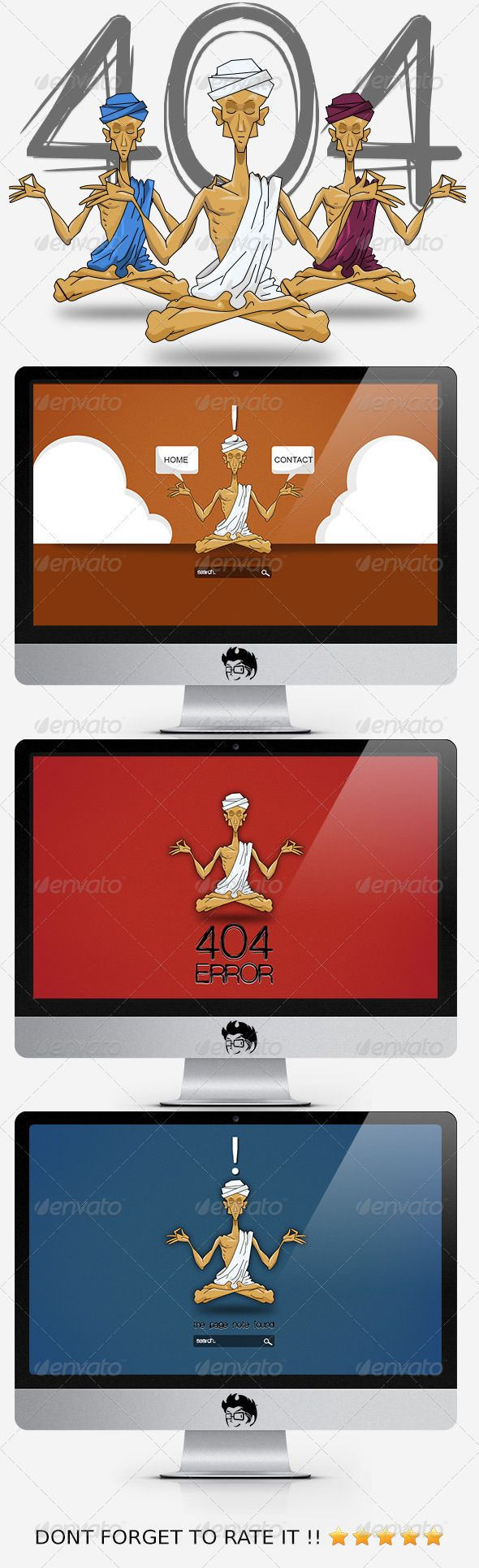 Yoga 404 Error Web Page - #404 #Pages #Web #Elements Download here: https://graphicriver.net/item/yoga-404-error-web-page/3065734?ref=alena994