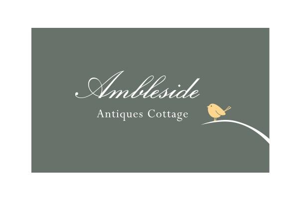 Ambleside Antiques Cottage Logo Design www.designbc.com.au