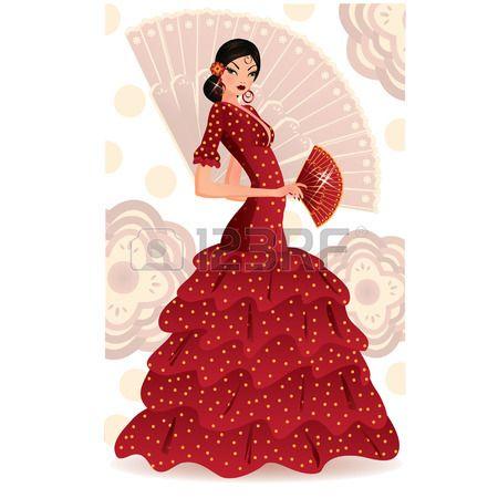 Danseuse de flamenco espagnole  Banque d'images