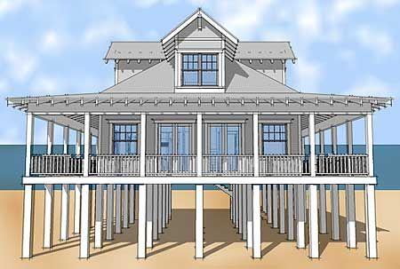 Plan 44026td classic florida cracker beach house plan for Stilt house plans florida