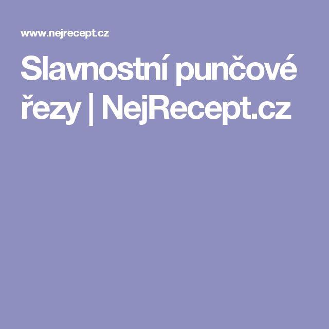 Slavnostní punčové řezy | NejRecept.cz