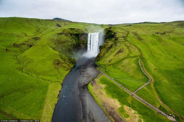 Водопад Скогафосс исландия, красивые места, путешествие