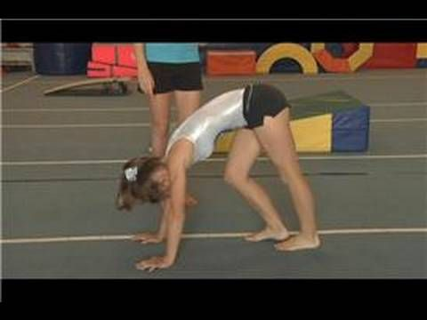 Gymnastics Moves : How to Do a Back Walkover... always wanted to learn how to do this