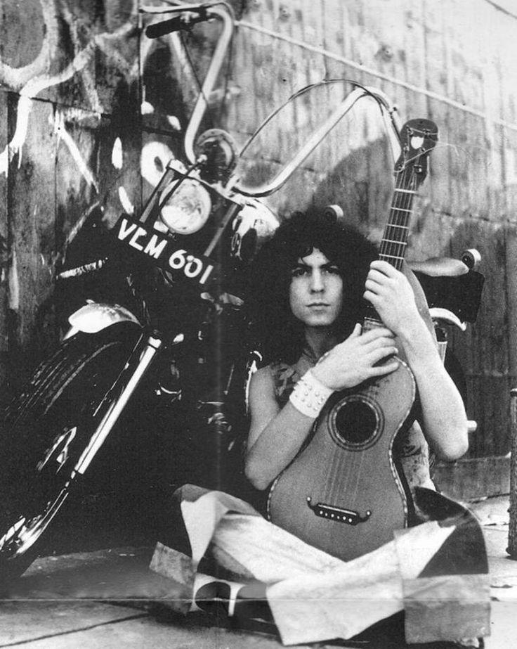 Bike, Bolan, and guitar