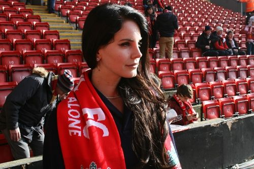 Lana Del Rey at Anfield