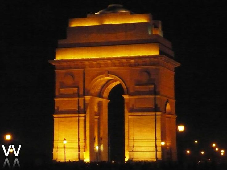 The India Gate is the national monument of India situated in the heart of New Delhi, it was designed by Sir Edwin Lutyens. Following India's independence, the India Gate became the site of the Indian Army's Tomb of the Unknown Soldier, known as Amar Jawan Jyoti (the flame of the immortal soldier). The Republic Day Parade starts from Rashtrapati Bhavan and passes through India Gate. The India Gate is 42-metre tall.