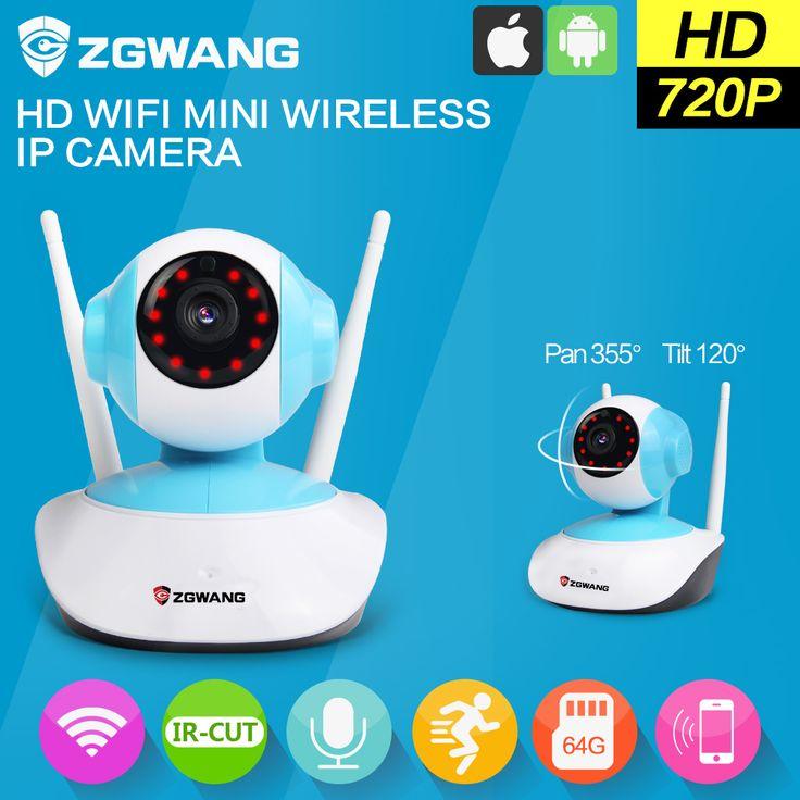 ZGWANG 720P HD  IP Camera WiFi Mini Wireless surveillance Camera P2P CCTV Security Camera  Night Vision Remote Control IP cam #shoes, #jewelry, #women, #men, #hats