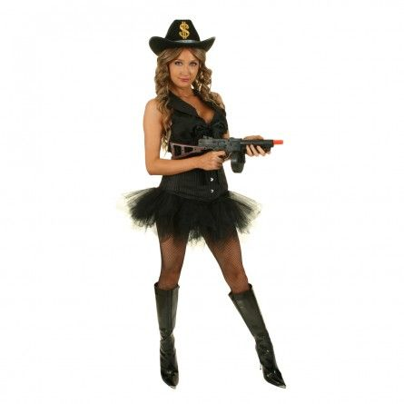 Womens 20s Gangster Burlesque Costume