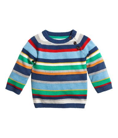 H&M baby boy multi striped knitted jumper