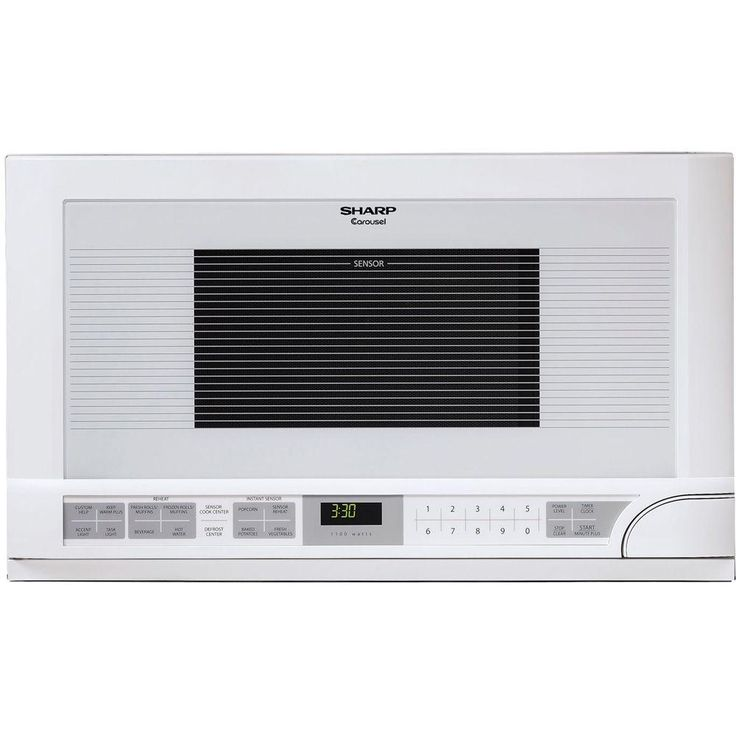 Sharp 1.5 cu. ft. Over the Counter Microwave in White with Sensor Cooking - R1211T - The Home Depot
