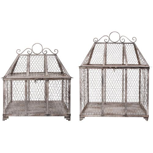 This set of two Aged Metal Mesh Cage Planters are great to display your favourite plants. Why not use with terracotta pots filled with seasonal flowers to add a splash of colour to any conservatory or garden room.  http://www.english-heritageshop.org.uk/garden/garden-accessories/aged-metal-mesh-cage-planters-set-of-2