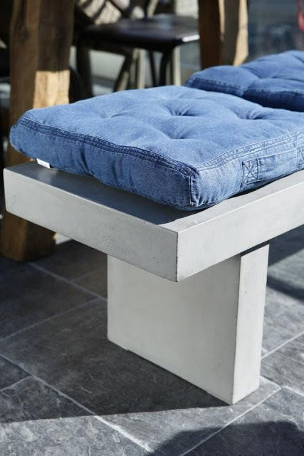 Blogg Home and Cottage: Denim cushion