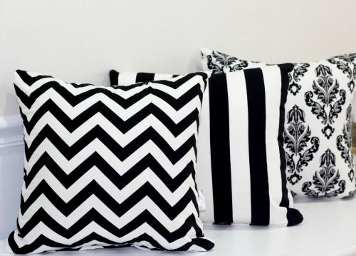 Black and White cushions from Hamptons Style, Gold Coast Australia.