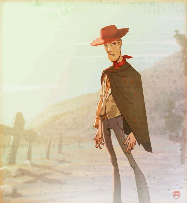 Woody from Toy Story as Clint Eastwood. Deviant Art by Kizer180.