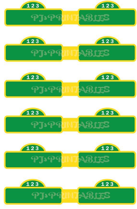 sesame street straw flags customized digital file flags