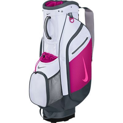 White / Pink Nike Ladies / Men's Sport Cart III Golf Bag at #lorisgolfshoppe