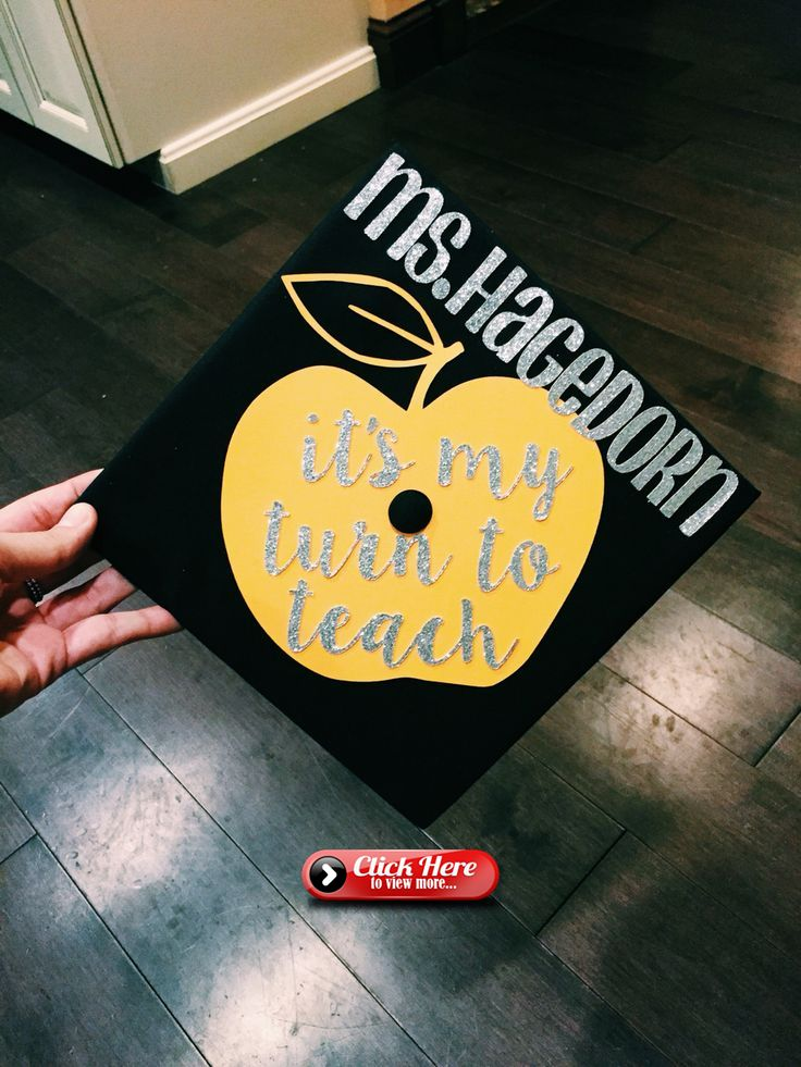 college of education graduation cap! teacher grad cap!