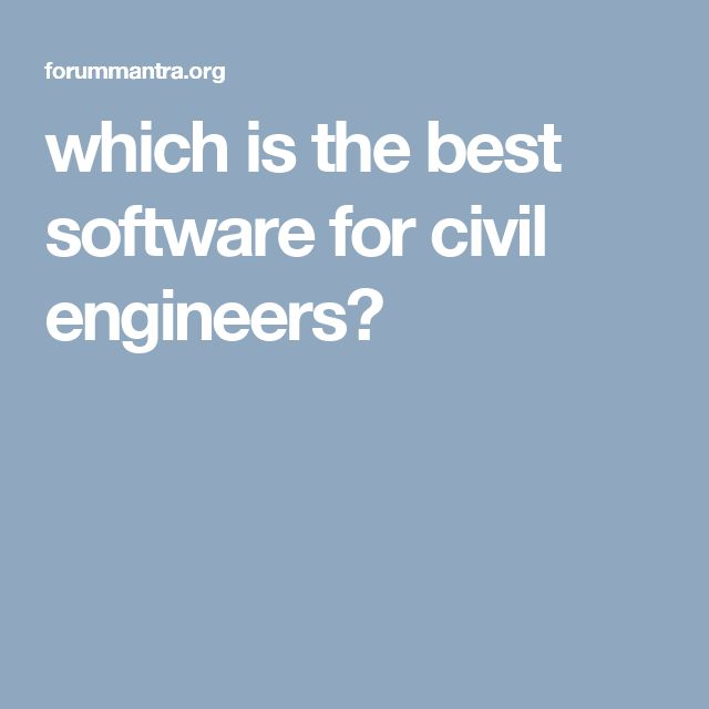 Stunning which is the best software for civil engineers