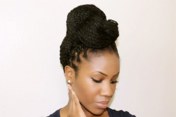 Updo Hairstyles For Senegalese Twists Updo Get Free Printable