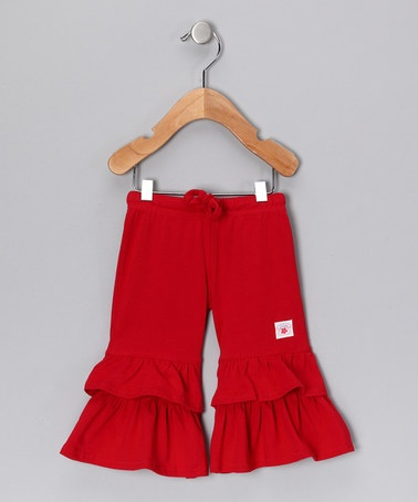 Take a look at this Red Flounce Pants - Infant, Toddler & Girls by Chatti Patti on #zulily today! So cute for this fall!: Mom Baby, Kids Zulili, Infants Girls, Chatty Patties, Baby Girls, Kids Fall, Daily Deals, Kids Clothing, Fall Essential