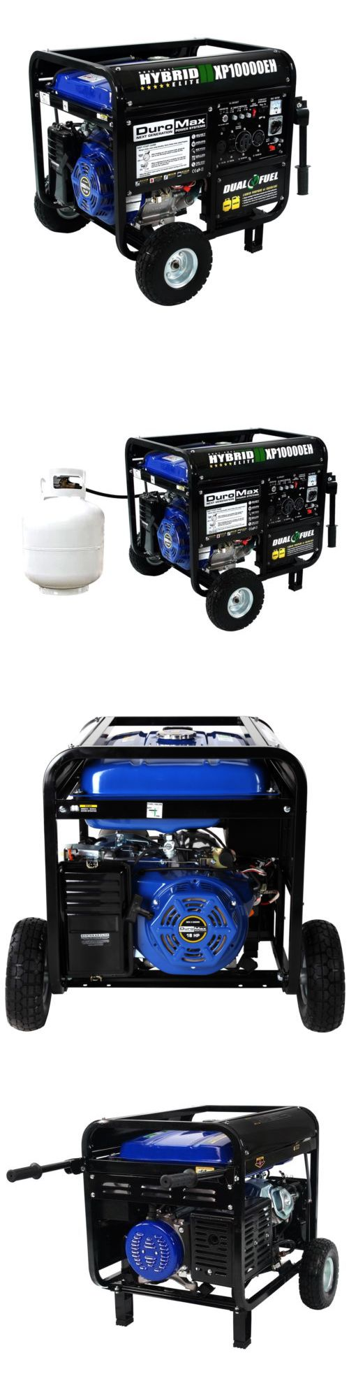 Generators 33082: Duromax 10000 Watt Hybrid Dual Fuel Portable Gas Propane Generator - Rv Standby -> BUY IT NOW ONLY: $969 on eBay!