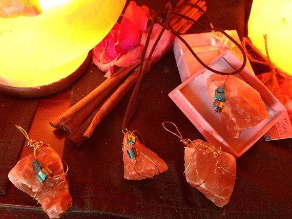 HandmadeHimalayan Crystal Salt Pendant by Robzy on Etsy, $10 #handmade # madeinaustralia #himalayansaltpendant #himalayanrocksalt #himalayancrystalsalt #healing