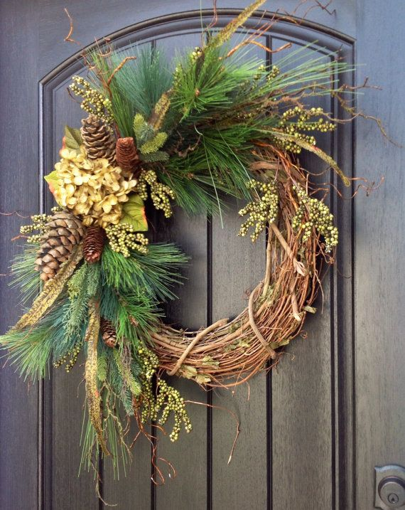 Christmas Wreath-Twig-Winter Wreath Holiday by AnExtraordinaryGift