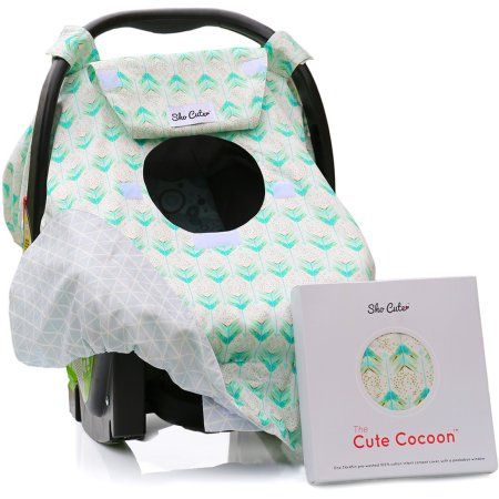 Hisprout Breathable Cotton Muslin Baby Car Seat Cover Canopy/& Nursing Cover,Arrow