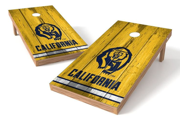 California Golden Bears Cornhole Board Set - Vintage (w/Bluetooth Speakers)