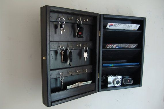 Hidden Key Box & Mail Organizer Handcrafted by WindyWoodsWoodcraft