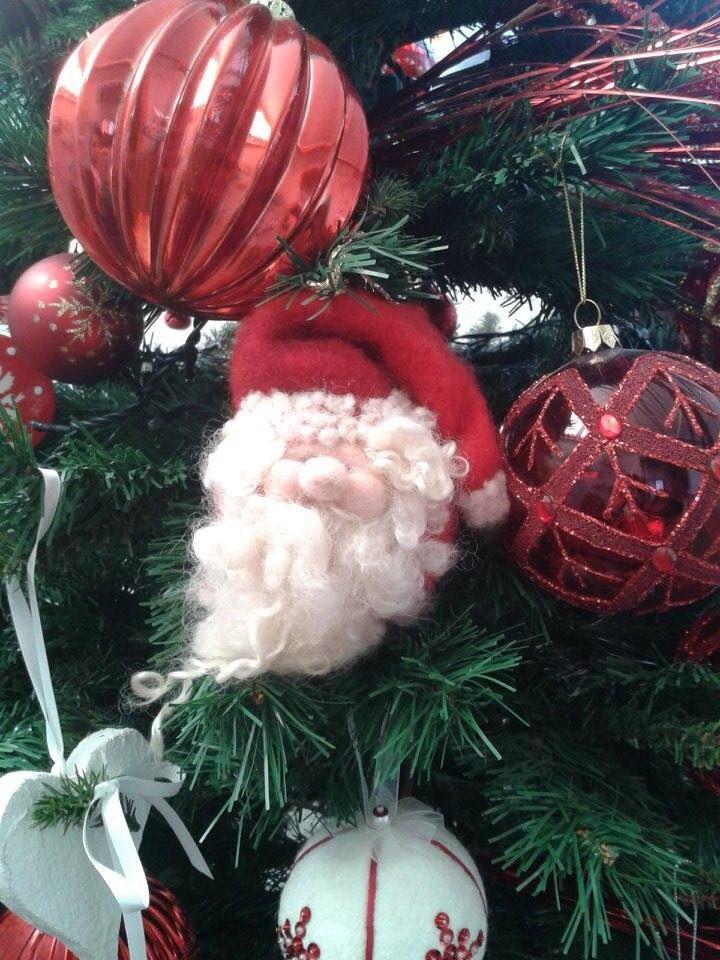 Palla Babbo Natale in morbida lana cardata