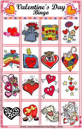 download a fun and festive printable valentines day bingo game from uncommoncourtesycom with prices - Valentine Bingo Cards