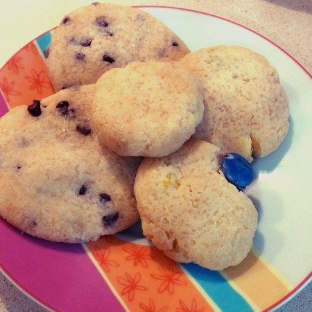biscotti al microonde - arancione e viola